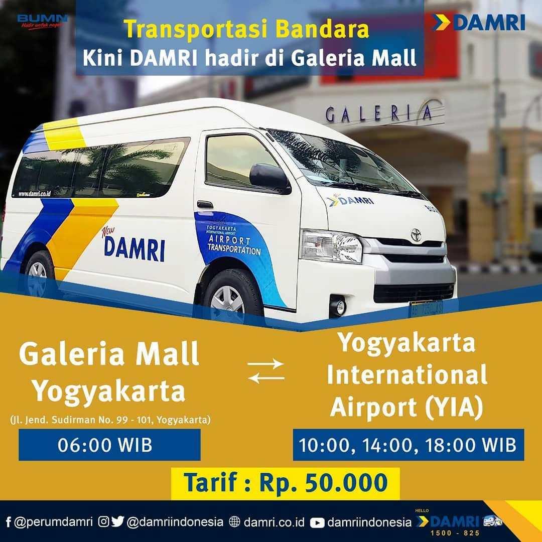 Jadwal dan Tiket Damri Bandara YIA