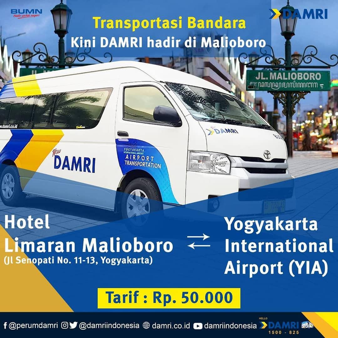 Angkutan Bandara DAMRI Malioboro YIA