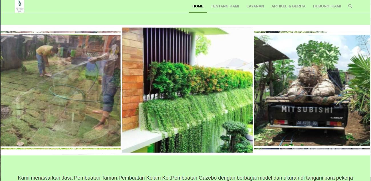 Situs website Jogja Garden, foto: screenshots