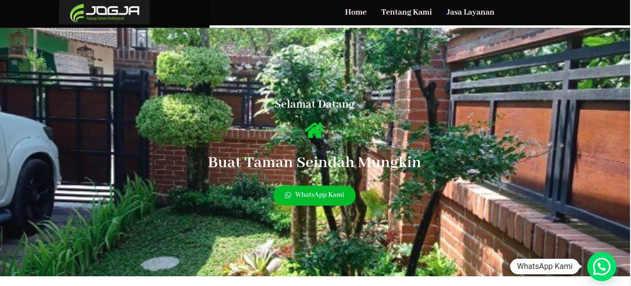 Tampak situs website Jogja Tukang Taman, foto: screenshots
