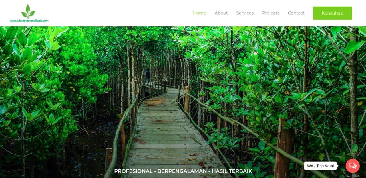 Tampak situs website dari Tukang Taman Jogja, foto: screenshots