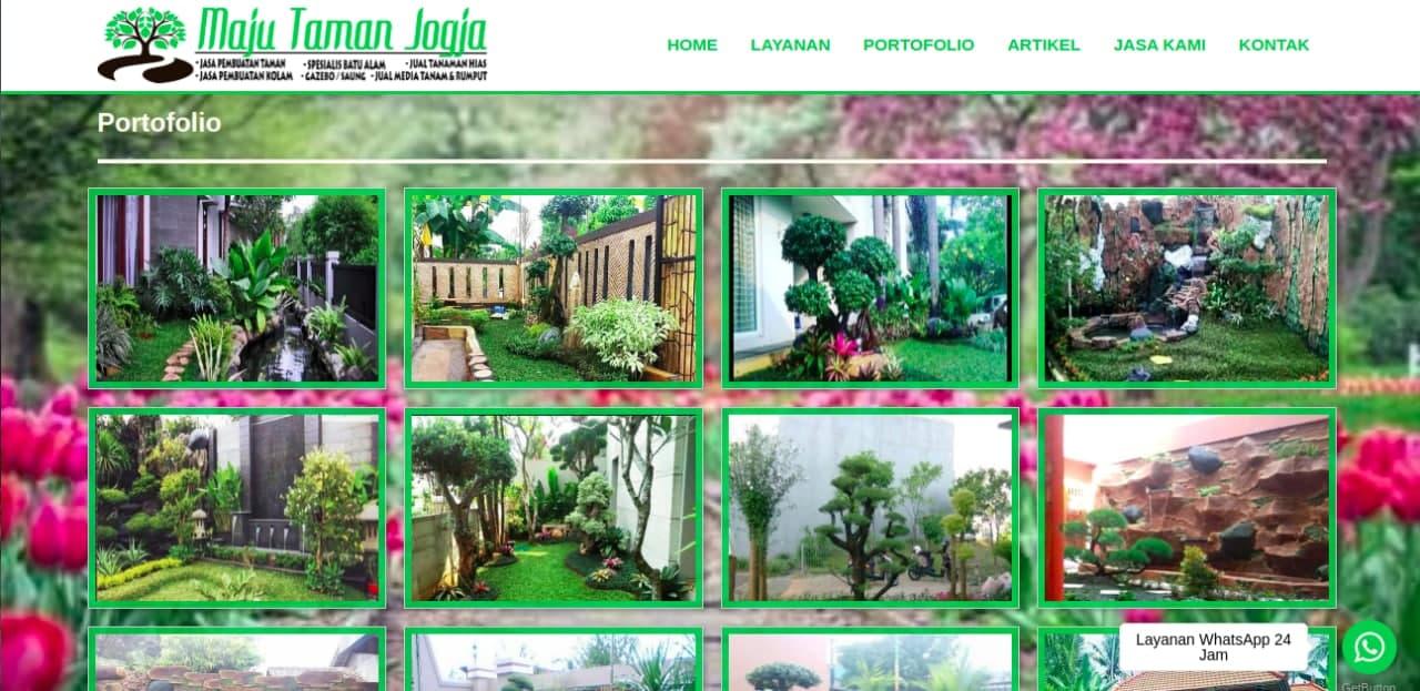 Tampak situs website dari Maju Taman Jogja, foto: screenshots