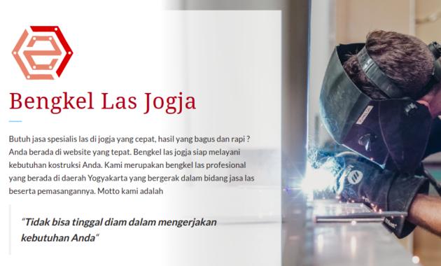 Web resmi Bengkel Las Jogja.