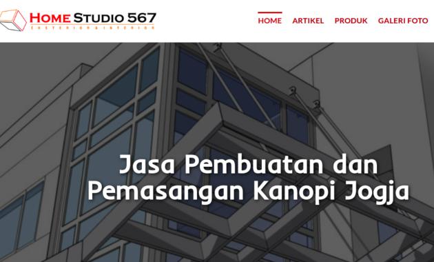 Web Home studio 567. Sumber : https://jasakanopijogja.com/